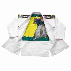 Kimono MASUTAZU IZANAMI - 450g  (bílá/růžová/modrá)