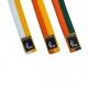 Půlené barevné pásky s nášivkou