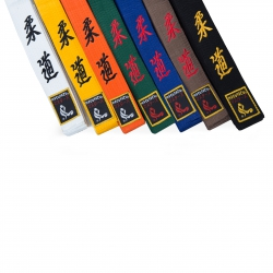 Judo pásky s nášivkou a výšivkou 4 cm
